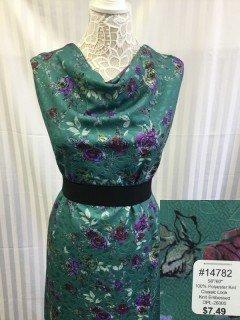 14782 Classic Look Knit Embossed Aqua Purple