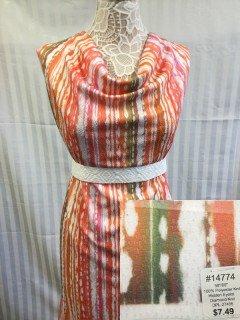 14774 Hidden Eyelot Diamond Knit Pink Orange Green White