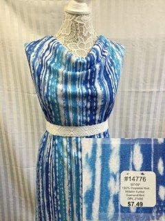 14776 Hidden Eyelot Diamond Knit Blue White
