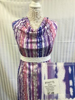 14775 Hidden Eyelot Diamond Knit Peach Violet Purple White