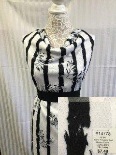 14778 Hidden Eyelot Diamond Knit Black White