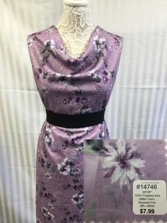14746 Glitter Line Embossed Knit Purple