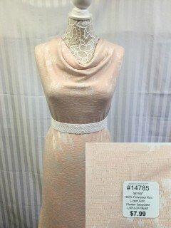 14785 Linen Knit Flower Jacuuard Blush Pink