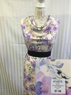 14875 Classic Look Knit Purple Pink Tan