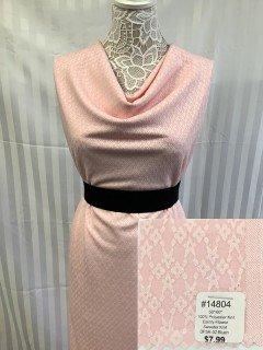 14804 Dainty Flower Sweater Knit Blush