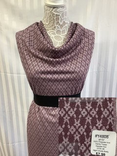 14808 Dainty Flower Sweater Knit Night Shade Berry