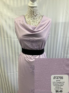 14799 Broadway Flowering Knit Embroidery Lavender Mist