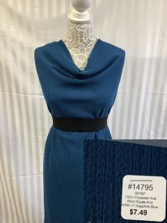 14795 Wind Ripple Knit Sapphire Blue