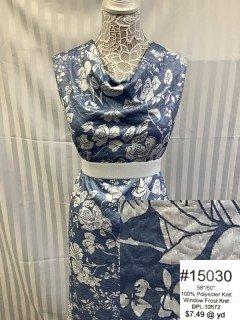 15030 Window Frost Knit Light Blue White