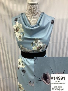 14991 CBL Knit Light Blue Green Black