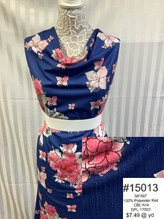 15013 CBL Knit Navy Pink Rose