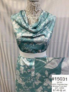 15031 Window Frost Knit Sea Green White