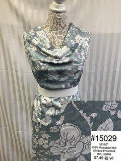 15029 Window Frost Knit Grey White
