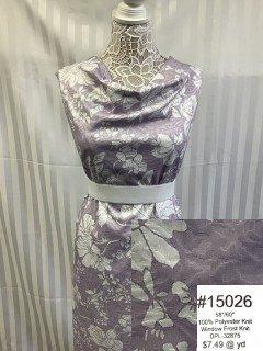 15026 Window Frost Knit Lavendar White