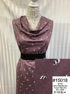 15018 French Terry Knit Mauve