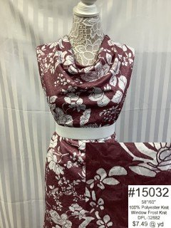 15032 Window Frost Knit Burgandy