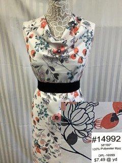 14992 CBL Knit White Coral Black