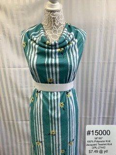 15000 Jacquard Teashirt Knit Green
