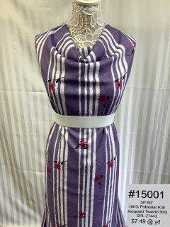 15001 Jacquard Teashirt Knit Purple