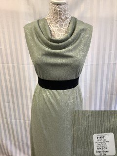 14931 Rain Forest Knit Embossed Sage Green