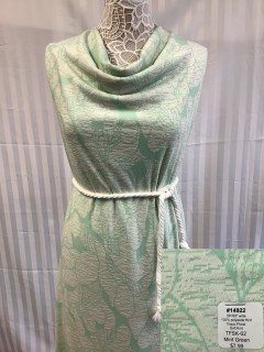 14922 Tropic Floral Soft Knit Mint Green