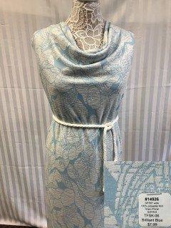 14926 Tropic Floral Soft Knit Brilliant Blue