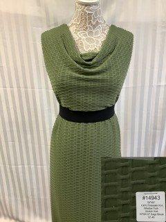 14943 Window Tuck Stretch Knit Sage Brush