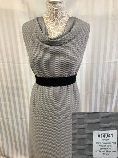 14941 Window Tuck Stretch Knit Silver Hue