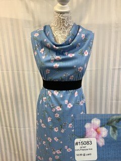 15083 Knit Blue White Pink Green