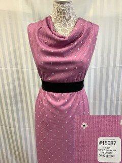 15087 Knit Pink White