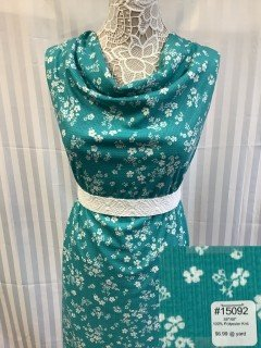 15092 Knit Teal White