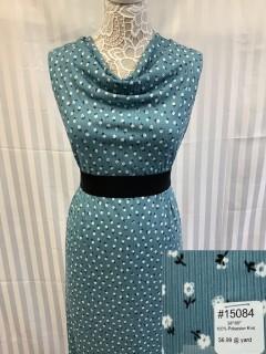 15084 Knit Steel Blue White
