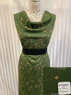 15093 Knit Dark Olive Green Yellow