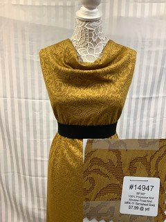 14947 Window Frost Knit Tarnished Gold