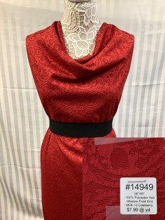 14949 Window Frost Knit Cranberry