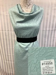 14958 Window Frost Knit Blue Grey