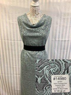 14980 Summer Wind Swirl Knit Blue Flame