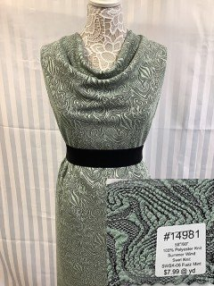14981 Summer Wind Swirl Knit Fuzz Mint