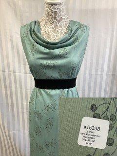 15338 Ribbed Knit Green
