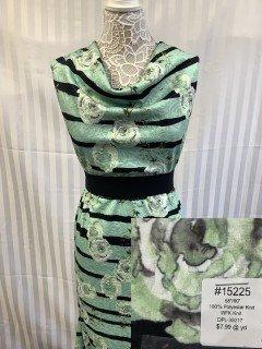 15225 WFK Knit Aqua Black Olive