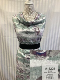 15226 WFK Knit Purple Sea Green Gray