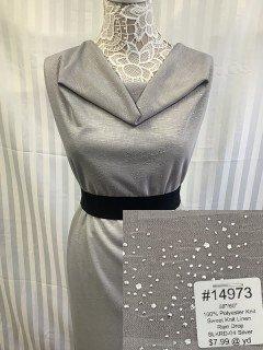 14973 Sweet Knit Linen Rain Drop Silver