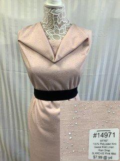 14971 Sweet Knit Linen Rain Drop Pink Mist