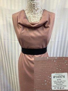 14974 Sweet Knit Linen Rain Drop Rose Moss