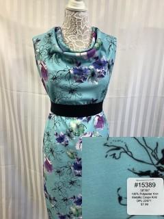 15389 Metallic Crepe Knit Blue Purple Green