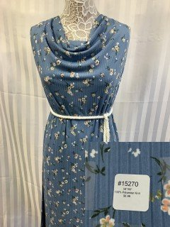 15270 Knit Medium Blue White Green