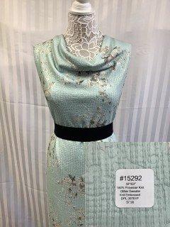 15292 Glitter Sweater Knit Embossed Pale Cyan