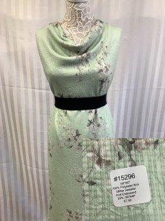 15296 Glitter Sweater Knit Embossed Green Smoke