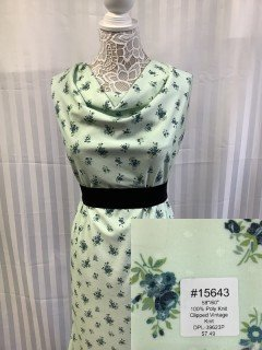 15643 Clipped Vintage Knit Green