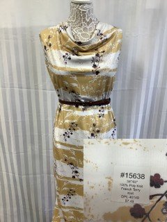 15638 French Terry Knit Gold Cream Brown